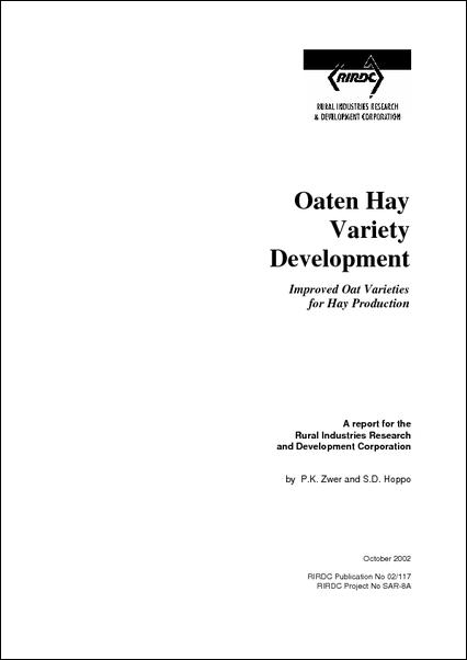 Oaten Hay Variety Development - image