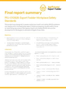Final report summary: Export fodder workplace safety standards - image
