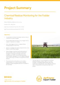 Project summary: Chemical residue monitoring for the fodder industry - image