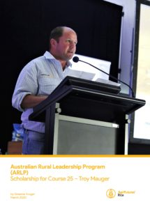 Australian Rural Leadership Program (ARLP) Scholarship for Course 25 – Troy Mauger - image