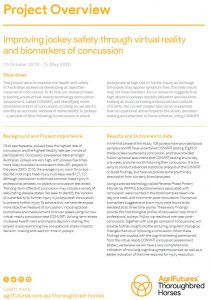 Project overview: Improving jockey safety through virtual reality and biomarkers of concussion - image