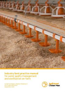 Industry best practice manual for water quality management and sterilisation on-farm - image