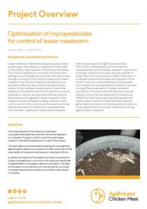 Optimisation of mycopesticides for control of lesser mealworm - image