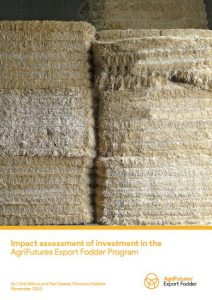 Impact assessment of investment in the AgriFutures Export Fodder Program - image
