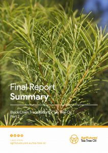 Final Report Summary: Block Chain Traceability for Tea Tree Oil - Part 2 - image