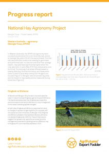 Progress report: National Hay Agronomy Project - image