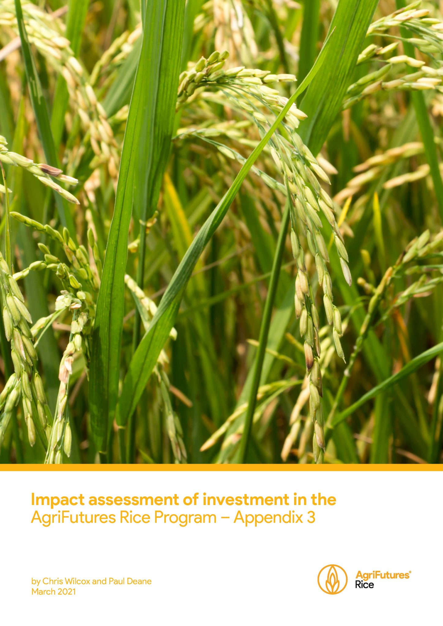 Impact assessment of investment in the AgriFutures Rice Program – Appendix 3 - image