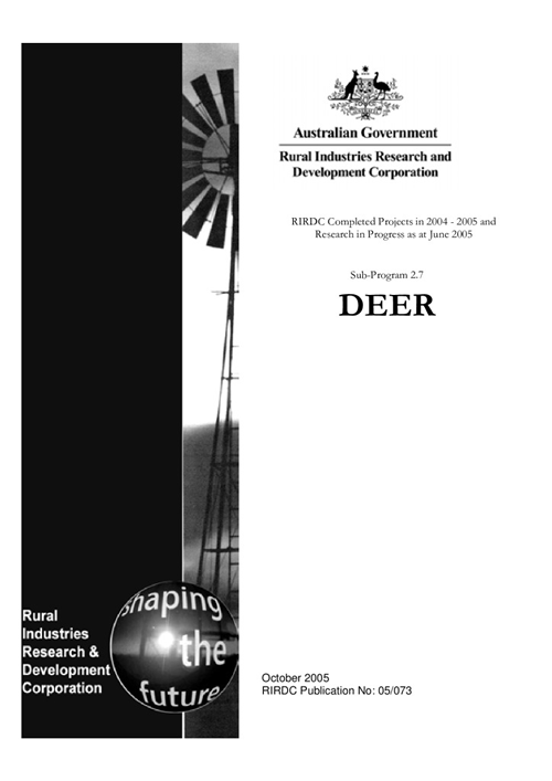 Research in Progress - Deer 2004-2005 - image