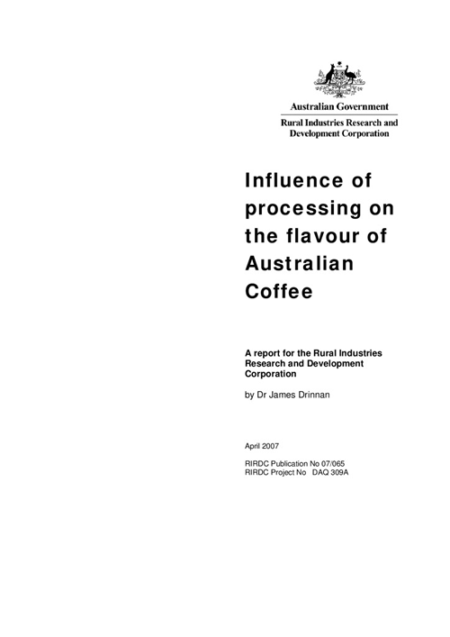 Influence of Processing on the Flavour of Australian Coffee - image