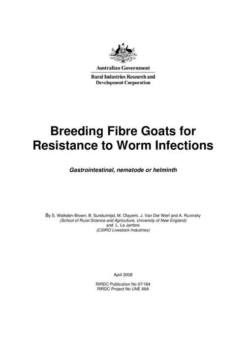 Breeding Fibre Goats for Resistance to Worm Infections - image