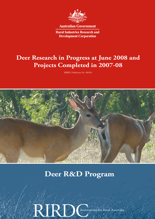 Research in Progress - Deer  2007-2008 - image