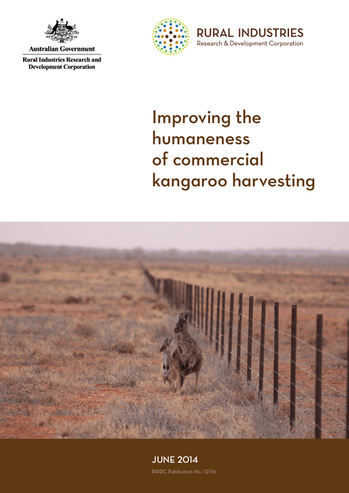 Improving the humaneness of commercial kangaroo harvesting - image