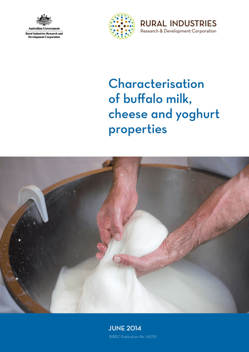 Characterisation of buffalo milk, cheese and yoghurt properties - image