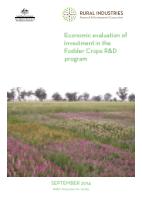 Economic Evaluation of Investment in the Fodder Crops R&D Program - image