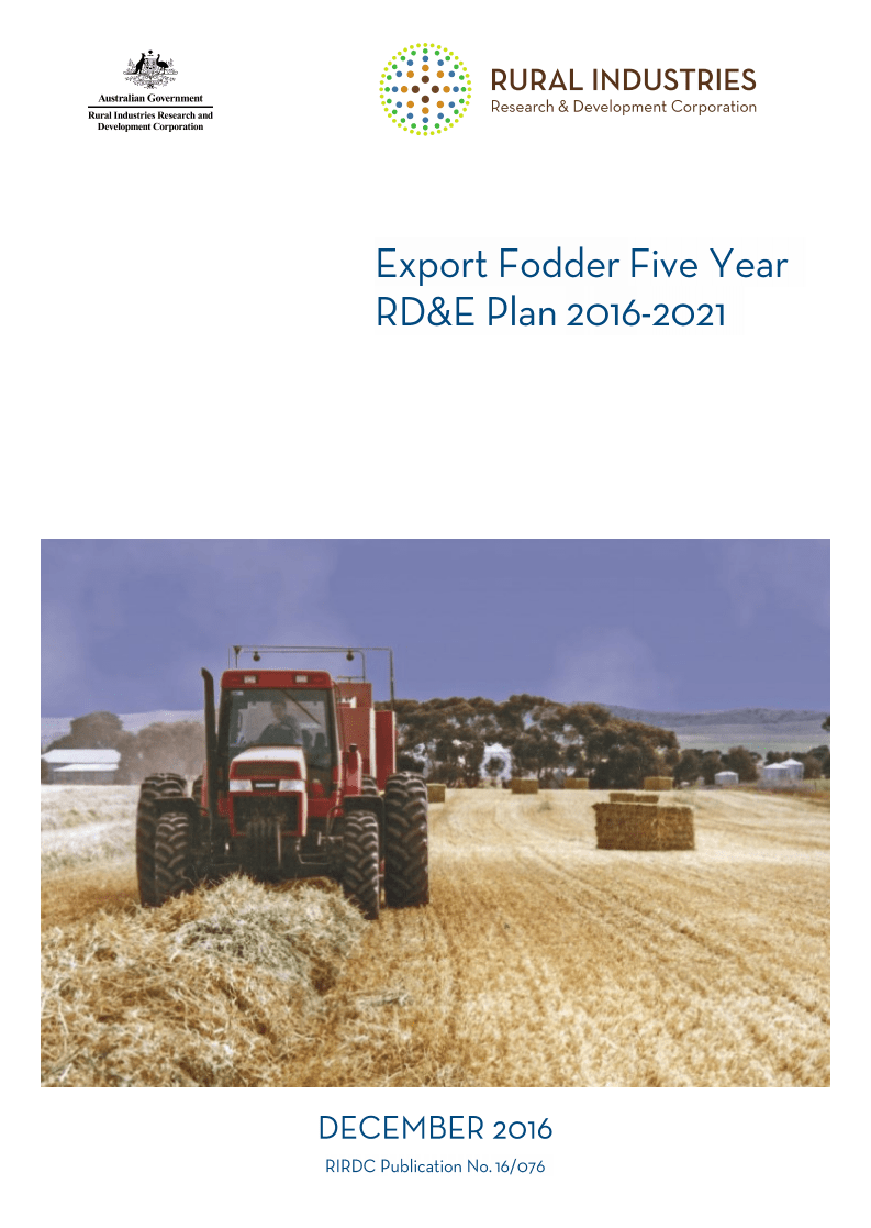 Export Fodder Five year RD&E Plan 2016-2021 - image