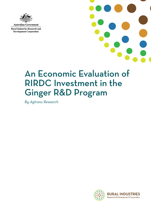 An Economic Evaluation of RIRDC Investment in the Ginger R&D Program - image