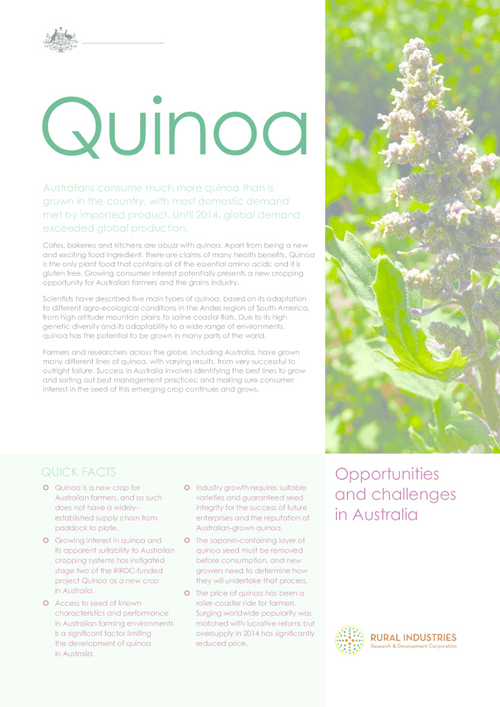 Fact Sheet: Quinoa - Opportunities and challenges in Australia - image